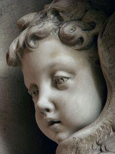 By Alexandrino Pereira da Silva in Female Face Sculpting wi Sculpture Head, Angel Sculpture, Stone Sculpture, Cemetery Angels, Cemetery Art, Statue Ange, Face Anatomy, Dark Art Drawings, Angel Art