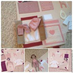Кукольный дом ручной работы. Игровой домик- сумка для куклы. JuliaSpicina. Интернет-магазин Ярмарка Мастеров. Домик для кукол