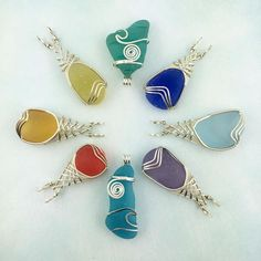 ❤️ This beautiful rainbow of sea glass pendants (plus much more) is…