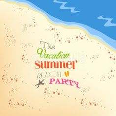 the vacation summer beach party
