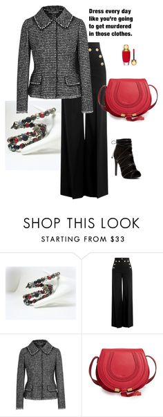 """Untitled #346"" by jillsjoyagol ❤ liked on Polyvore featuring RED Valentino, Dolce&Gabbana, Chloé and Winter"