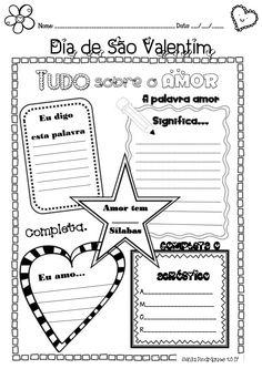 Nome: _________________________________________________ Data: ___/___/_____  Dia de São Valentim  A palavra amor  Significa.....