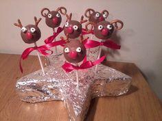 Popcakes, Rudolf the rednose reindeer, Kersttraktatie voor de kleuters van de juf