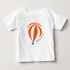 Hot Air Balloon T-Shirt - baby gifts child new born gift idea diy cyo special unique design