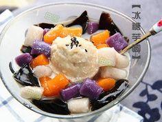 田园时光美食---冰糖仙草芋圆Grass jelly taro balls