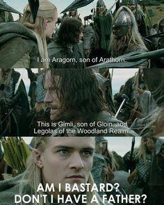 Poor Legolas. Thranduil is not the best daddy :P #lotr