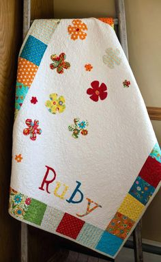 Customized Baby Quilts Girls Patchwork Quilt Baby Girl Blanket Floral Stroller Blanket Crib Quilt Colorful Cot Quilt Personalised Baby Quilts Ireland Personalized Baby Quilts Uk