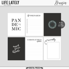 Life Lately pocket cards freebie from Dunia Designs - J. Conlon and Sons Project Life Karten, Project Life Freebies, Project Life Layouts, Project Life Cards, Pocket Scrapbooking, Scrapbook Paper, Scrapbooking Layouts, Mini Albums, Journaling