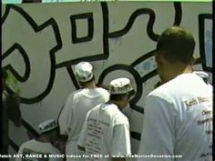 KEITH HARING Chicago Mural Project w/ high school students - PART 4 of 5 ( 1989 ) 5:07