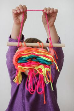 Ruby's First Woven Project #weaving #kids #tutorial
