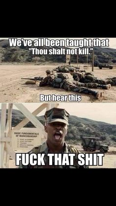 The Marines Don't Give A F*ck by booty_fucker - A Member of the Internet's Largest Humor Community Military Jokes, Army Humor, Military Life, Marine Corps Humor, Marine Memes, My Marine, Warrior Quotes, Survival, Okinawa