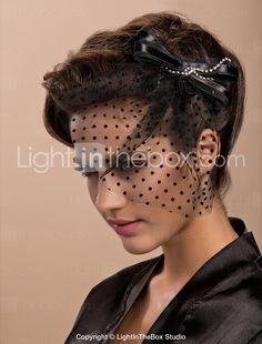 Elegant Tulle With Rhinestone Wedding Bridal Flower Headpiece - USD $ 6.99