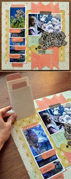 #scrapbooking #idea  http://diyready.com/cool-scrapbook-ideas-you-should-make/ This is made by diy ready, The concept with this curation is to show ideas for you to add into your scrapbook.