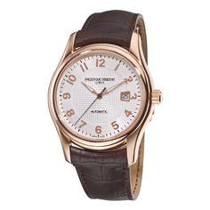 Frederique Constant Men's FC-303RM6B4 Runabout Automatic Rosetone Case Brown Strap Watch