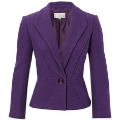 CC Petite boiled wool jacket ($120) ❤ liked on Polyvore