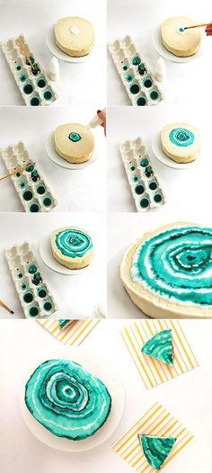 DIY Agate Cheesecake