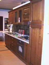 Cucina legno Erika in massello di rovere invecchiato misura 2,80 ...