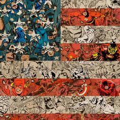Ben Turnbull // Patriots, 2011 (detail) Comic collage on wood // 85 x 129 cm Courtesy of Eleven, London and the artist