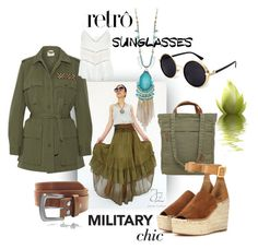 """retro shades & military chic"" by caroline-buster-brown on Polyvore featuring Fjällräven, Figue, IRO and Chloé"