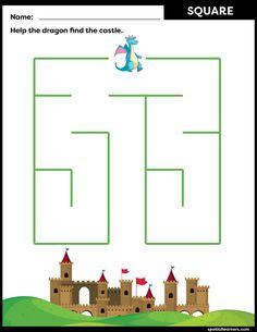 FREE Maze Worksheets for Kids