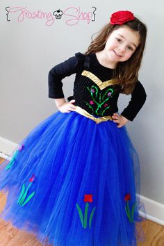 Princess Anna Inspired Tutu Dress Frozen by FrostingShop on Etsy Princess Tutu Dresses, Princess Hair Bows, Princess Anna, Frozen Princess, Space Princess, Tutu Frozen, Anna Dress Frozen, Frozen Frozen, Robes Disney