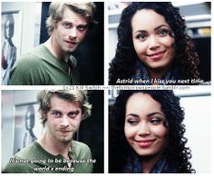 """TTP - 1x21 Kill Switch [gifset] - """"It's not going to be because the world is ending."""" - Astrid Finch, John Young, Jastrid, The Tomorrow People"""