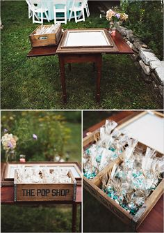 Laid Back Utah Wedding Reception | Guestbook, Rock and Wedding