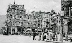 Britannia, 187 high Street, Camden, - in 1910 Camden London, Camden Town, London Pubs, Old London, North London, Vintage London, London Photos, The Good Old Days, Historical Photos