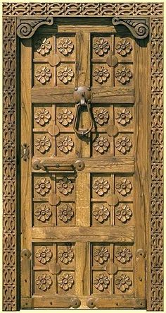 29 Splendidly Intricate Hand Carved Doors to Surge Inspiration From - Homesthetics - Inspiring ideas for your home. Entrance Doors, Doorway, Front Doors, Porte Cochere, Hand Carved, Carved Door, Cool Doors, Knobs And Knockers, Door Gate