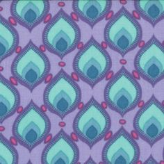 Cuzco by Kate Spain - Plumage Orchid - yard cotton quilt fabric Buy Fabric, Printing On Fabric, Textures Patterns, Print Patterns, Peacock Quilt, Hand Painted Fabric, Modern Fabric, Sewing Notions, Cotton Quilts