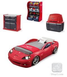 Kaydens new room for xmas!!!!! i love it!! Corvette® Bedroom Combo™ | Kids Furniture | By Step2