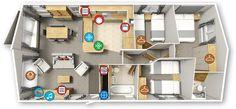 Willerby Portland 2016 40x16 3bed Floor plan