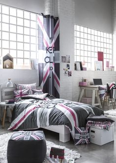 1000 images about ma chambre on pinterest home deco union jack and pink grey. Black Bedroom Furniture Sets. Home Design Ideas