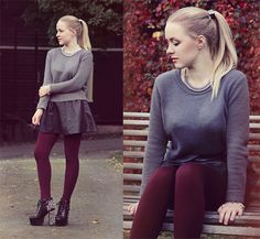 fall love tights skirt grey Shields (by ANE G.) http://lookbook.nu/look/4090538-Shields