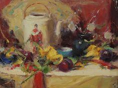 "Oriental Teapot by Dan Beck Oil ~ 12"" x 16"""