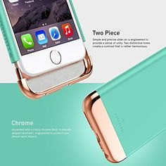 iPhone 6S Case, Caseology® [Savoy Series] [Hot Pink] Dual Layer Slider / Soft Interior Cover [Premium Rose Gold Case] for Apple iPhone 6S (2015)