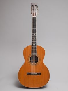 """1905 Washburn model 423 in excellent condition. X-braced spruce top, gorgeous Brazilian rosewood back and sides, cedar neck with ebony fingerboard and bridge. This guitar predates steel string 00 Martins by about 20 years and we feel is very comparable in sound to those of the 1920s.  If it said """"Martin"""" on the peghead it would be twice the price.  Includes new TKL arch-lid hard shell case.  Really a special guitar."""