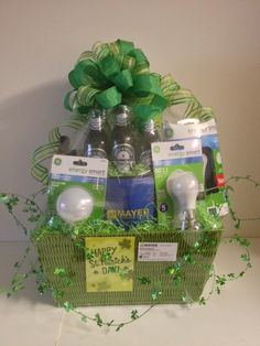 Come a Little Clover St. Patrick's Day Gift Basket www.OhBowsGiftBaskets.com
