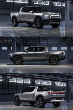 New Rivian 2021 Electric Pickup Truck, Electric Cars, Pick Up, Ev Truck, Future Trucks, Sweet Cars, Cars And Motorcycles, Triumph Motorcycles, Custom Motorcycles