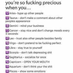 Pisces Quotes, Zodiac Signs Sagittarius, Zodiac Signs Astrology, Zodiac Memes, Zodiac Horoscope, Taurus, Zodiac Signs Chart, Zodiac Sign Traits, Zodiac Star Signs