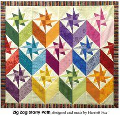 Zigzag Starry Path by Harriett Fox
