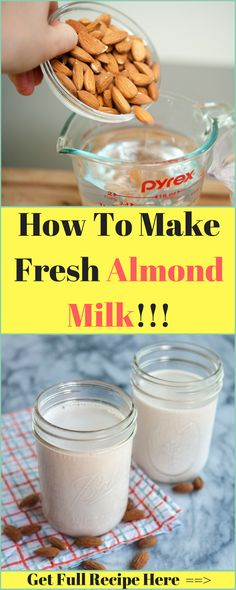 How To Make Fresh Almond Milk !!! - Time To Live Amazing