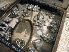 Vintage Rhinestone Pin Collection
