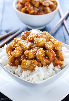 Save money and calories by making your own Chinese takeout! This Honey Sriracha Sesame Chicken is equal parts sweet and spicy and over the top delicious!