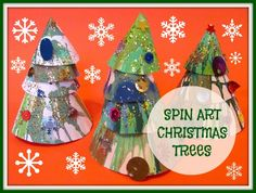 The Chocolate Muffin Tree: Spin Art Christmas Trees