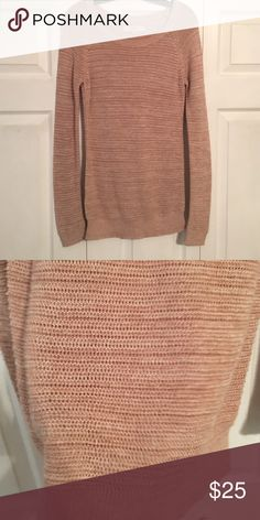 Lightweight loft sweater-long perfect for leggings Worn 1 time peach color LOFT Sweaters Crew & Scoop Necks
