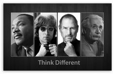 Think Different-Martin Luther King, John Lennon, Steve Jobs and Albert Einstein wallpaper