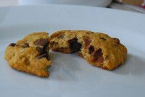 Vegan banana oatmeal chocolate chip cookie recipe from Bethenny Frankel. Made these for CC tonight...