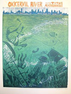 Okkervil River gig poster.