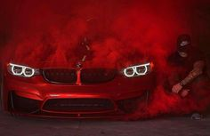 Red coloured BMW Posted by Automotive Photography, Car Photography, Fancy Cars, Cool Cars, Carros Bmw, Bmw Wallpapers, Top Luxury Cars, Car Mods, Bmw M4
